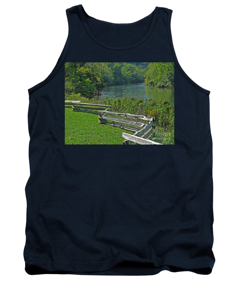River Tank Top featuring the photograph Huron River Bend by Ann Horn