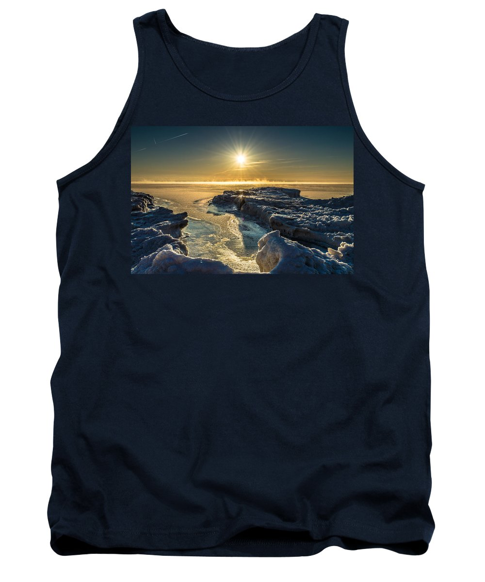 Ice Tank Top featuring the photograph Ice Flow by James Meyer