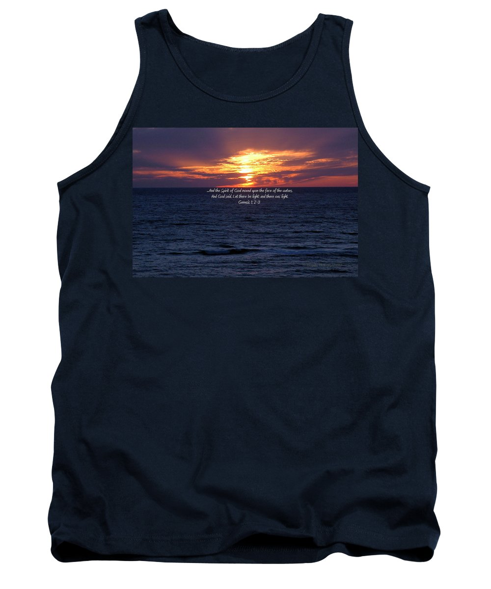 Ocean Tank Top featuring the photograph In The Beginning by Roe Rader
