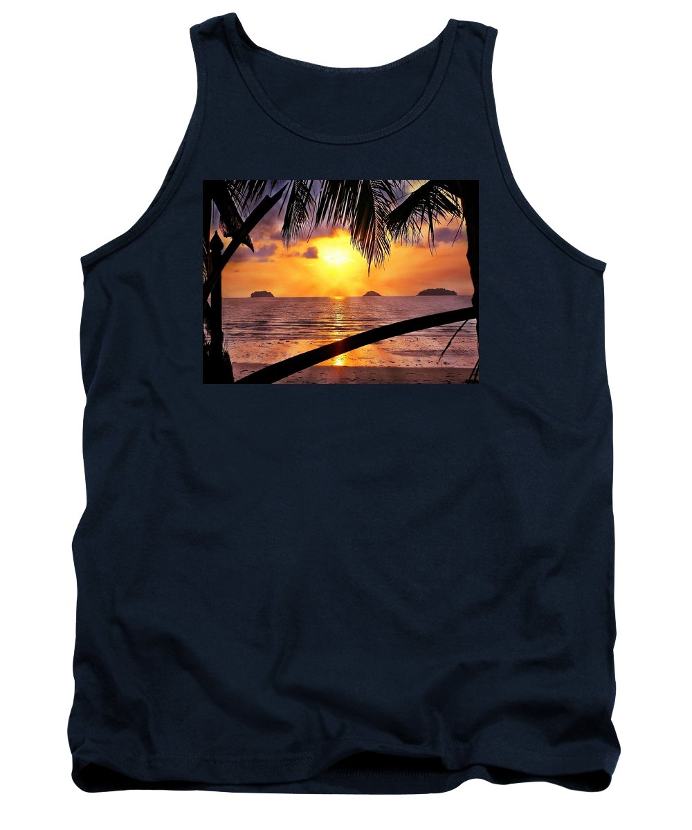 Island Tank Top featuring the photograph Island Sunset by Ian Gledhill