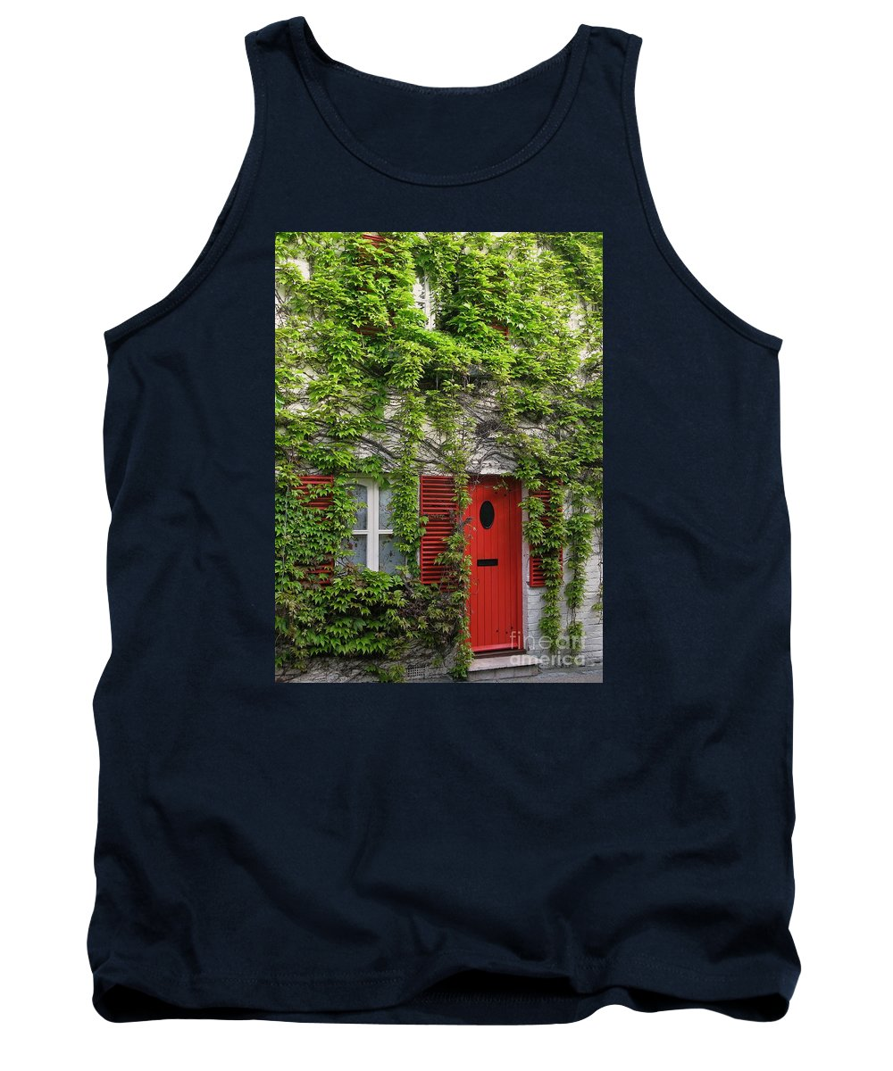 Ivy Tank Top featuring the photograph Ivy Cottage by Ann Horn