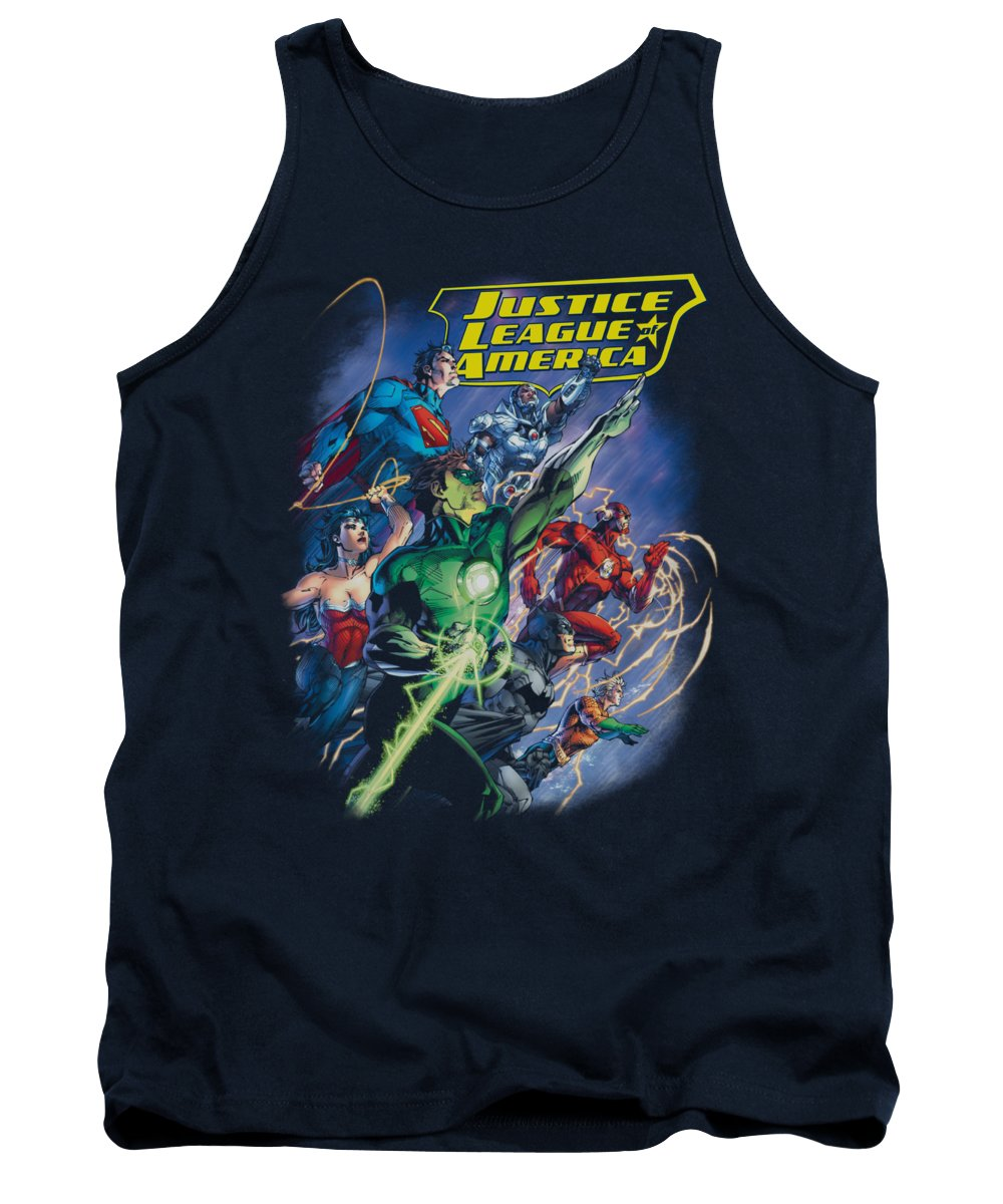 Justice League Of America Tank Top featuring the digital art Jla - Onward by Brand A