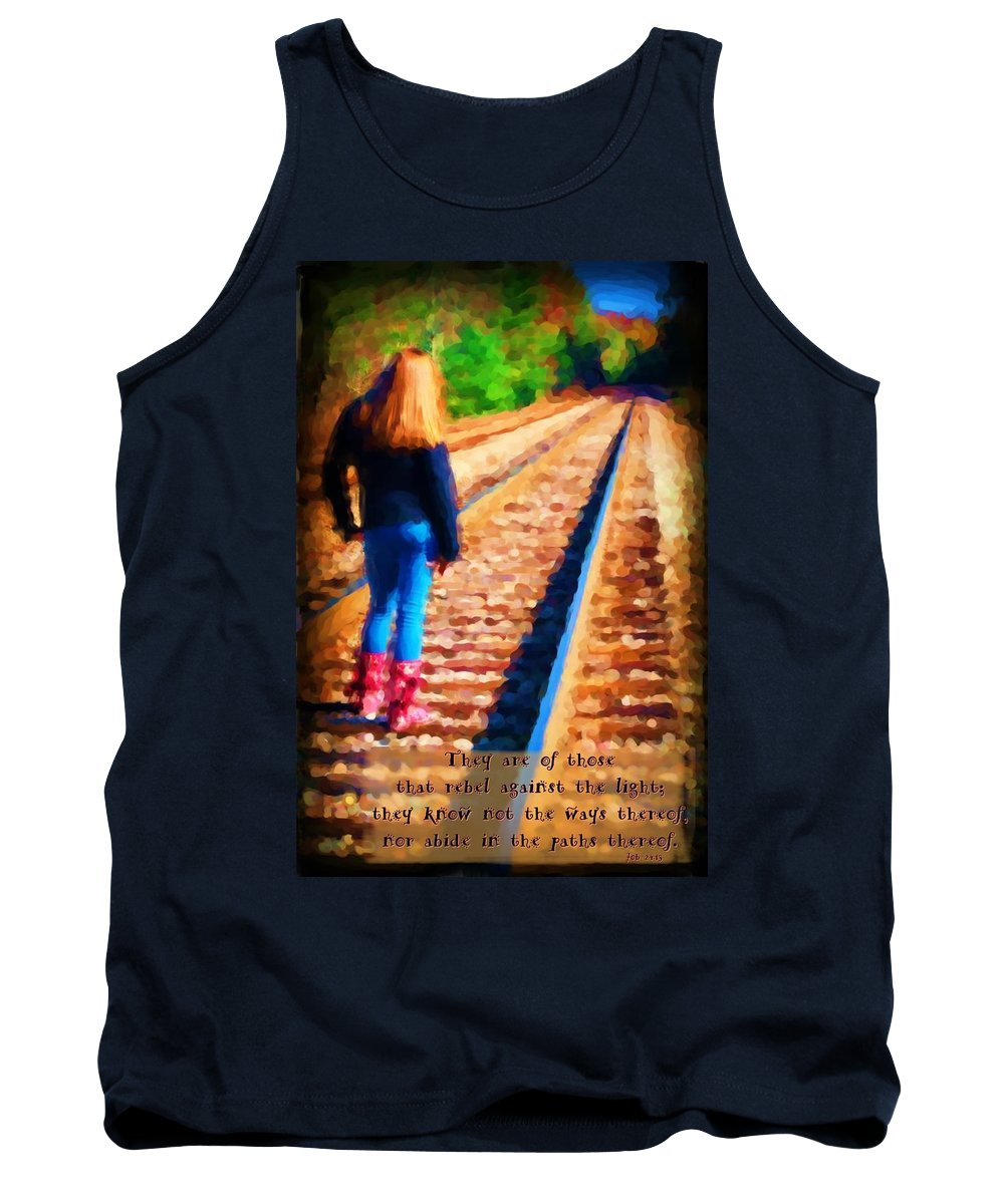 Jesus Tank Top featuring the digital art Job 24 13 by Michelle Greene Wheeler