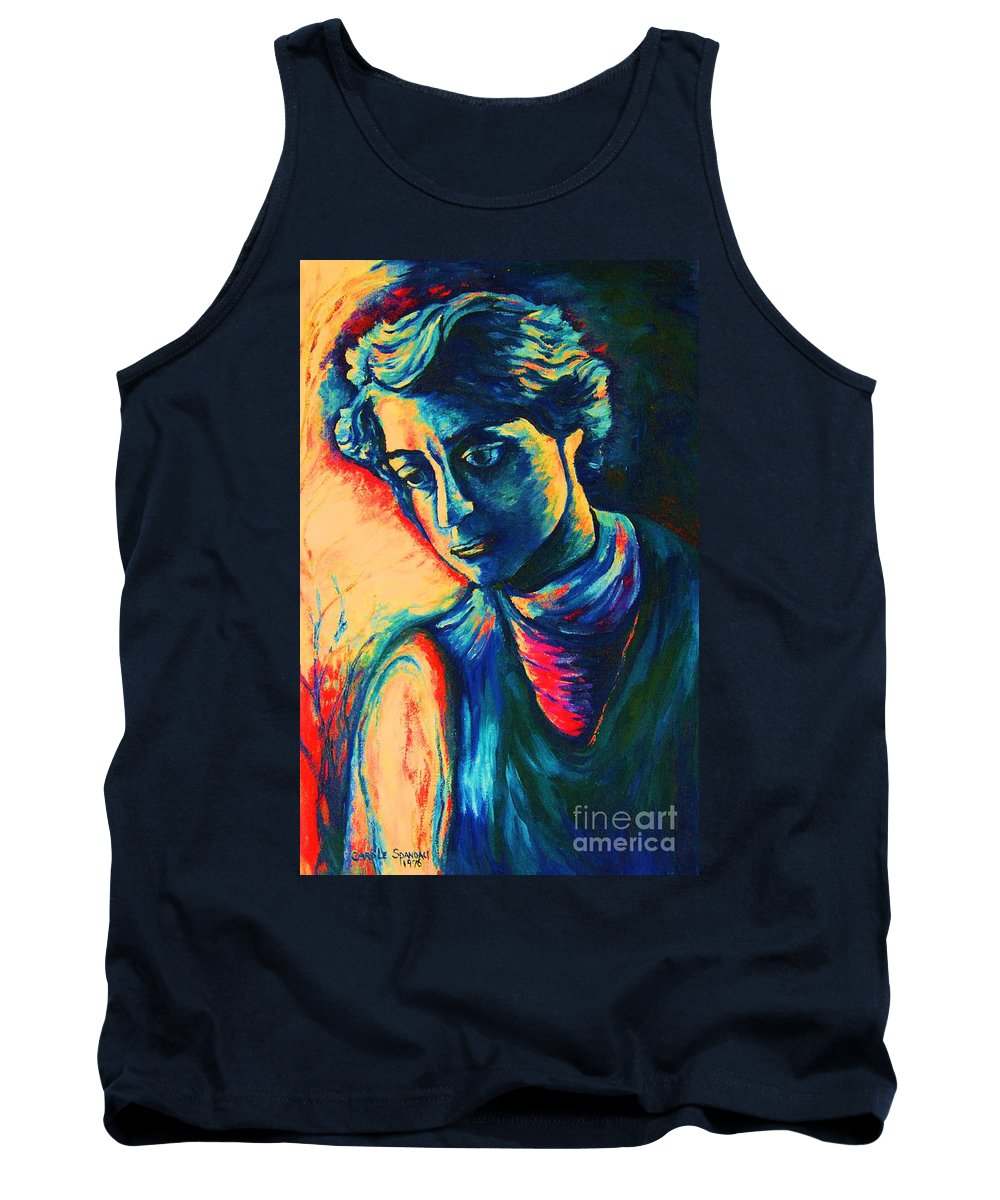 Joseph From The Bible Tank Top featuring the painting Joseph The Dreamer by Carole Spandau