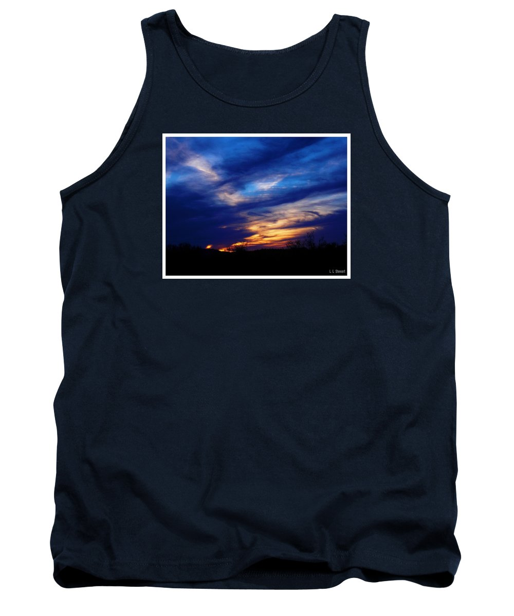 Arizona Tank Top featuring the photograph Just About Night by L L Stewart
