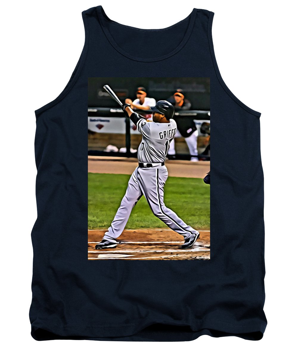 Mlb Tank Top featuring the painting Ken Griffey Jr Painting by Florian Rodarte