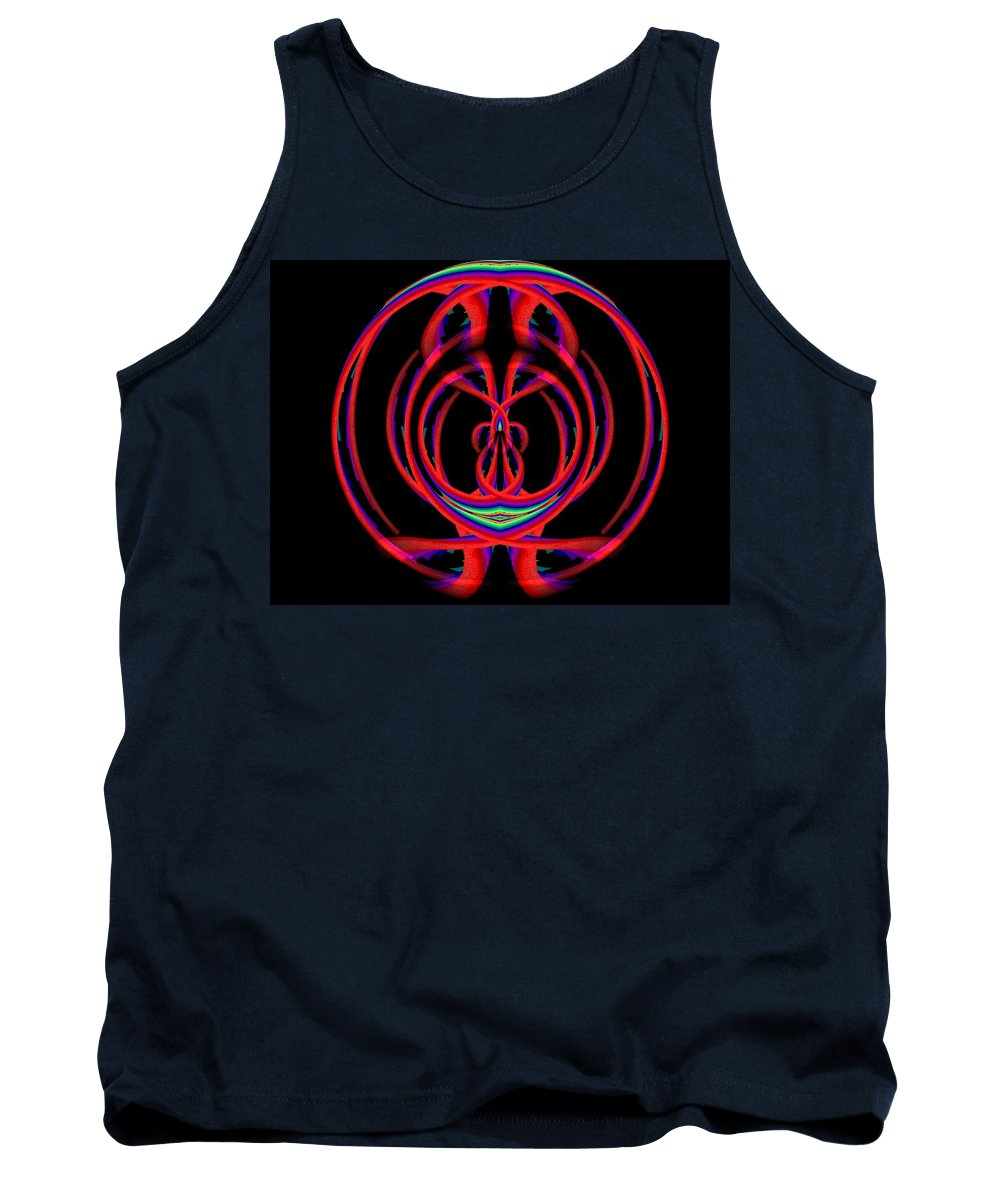 Abstract Tank Top featuring the digital art Kinetic Rainbow 46 by Tim Allen
