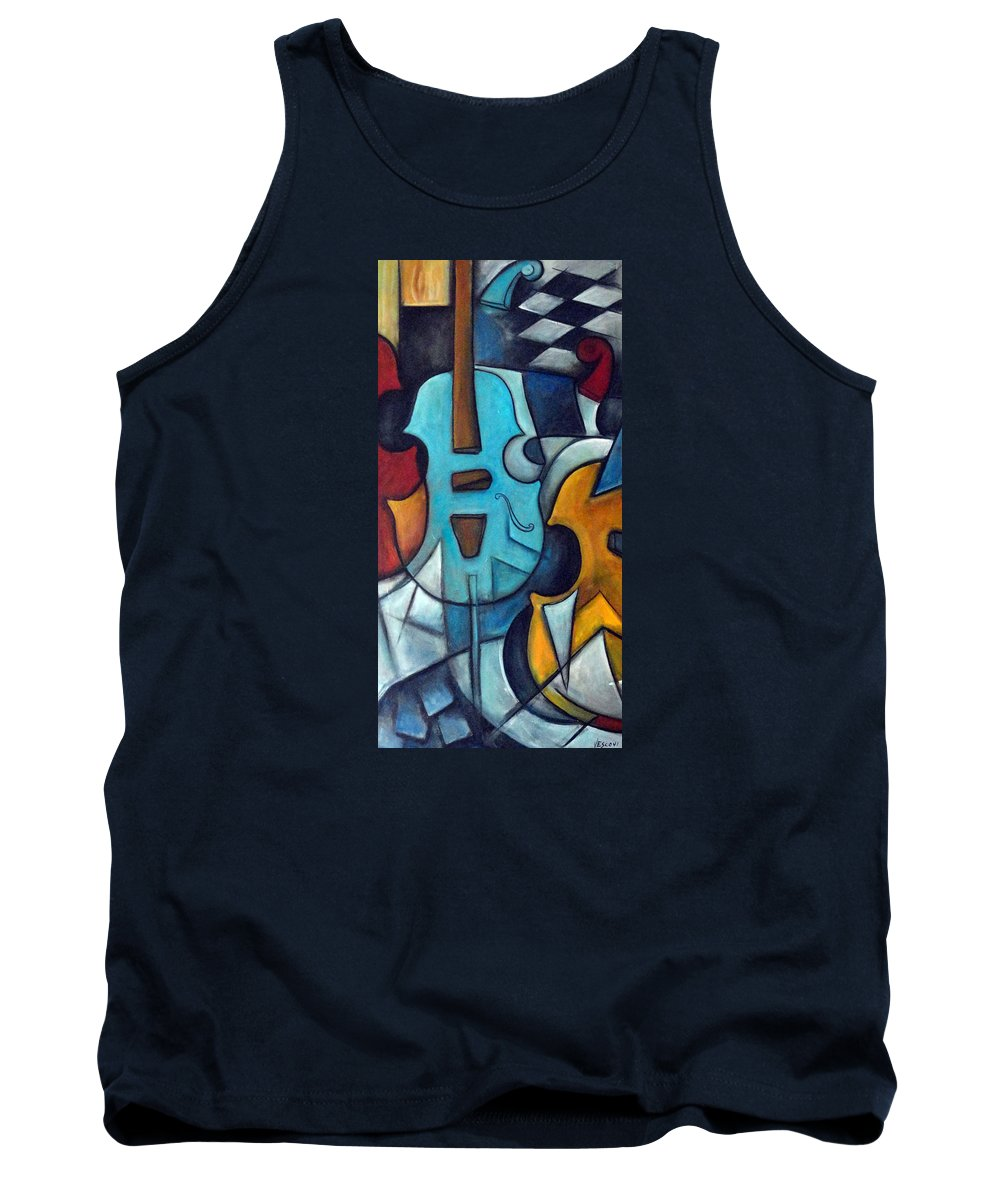 Music Tank Top featuring the painting La Musique 2 by Valerie Vescovi