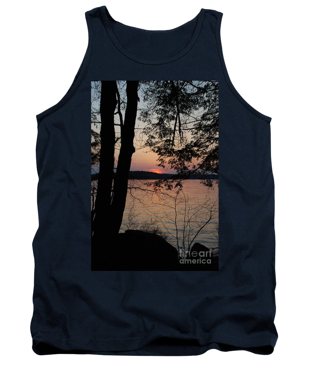 Nature Tank Top featuring the photograph Lakeside by Skip Willits