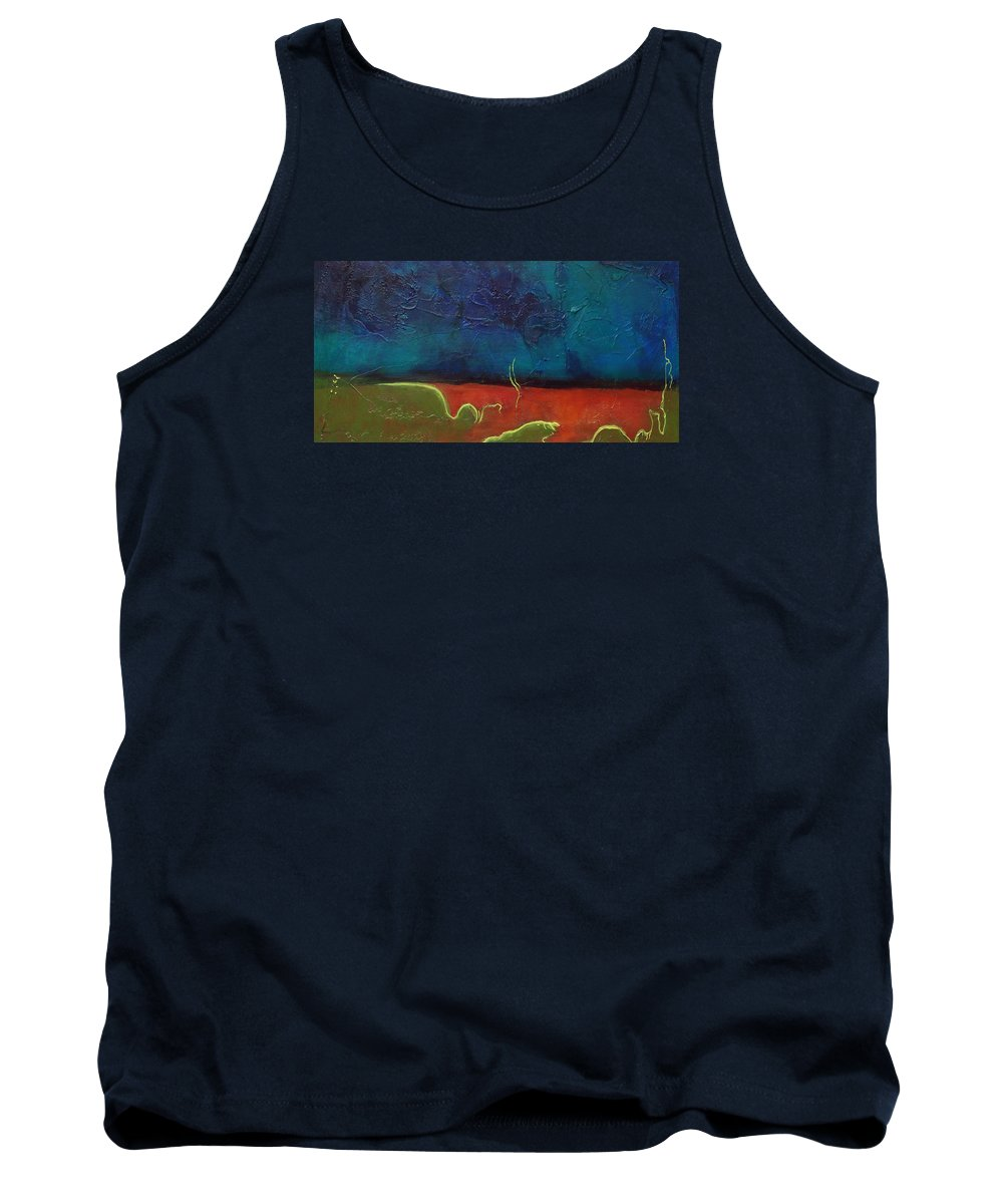 Abstract Tank Top featuring the painting Landscape # 20 - Prints Available But Original Sold by Chesney Rheaume