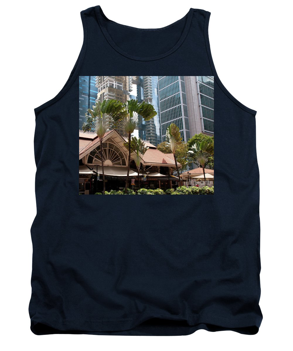 Singapore Tank Top featuring the photograph Lau Pa Sat Market 01 by Rick Piper Photography
