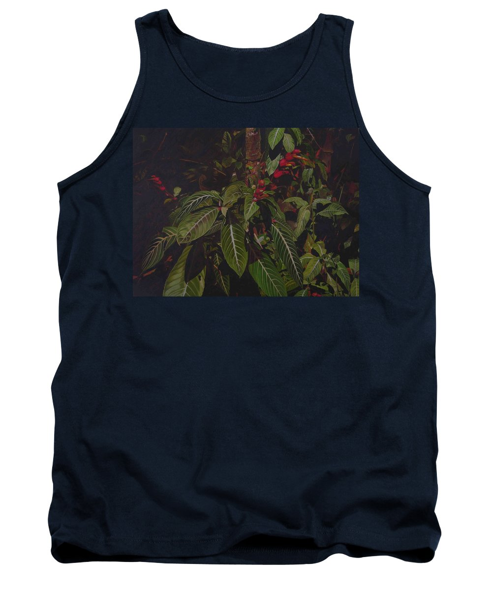 Leaves Tank Top featuring the painting Leaving Monroe by Thu Nguyen