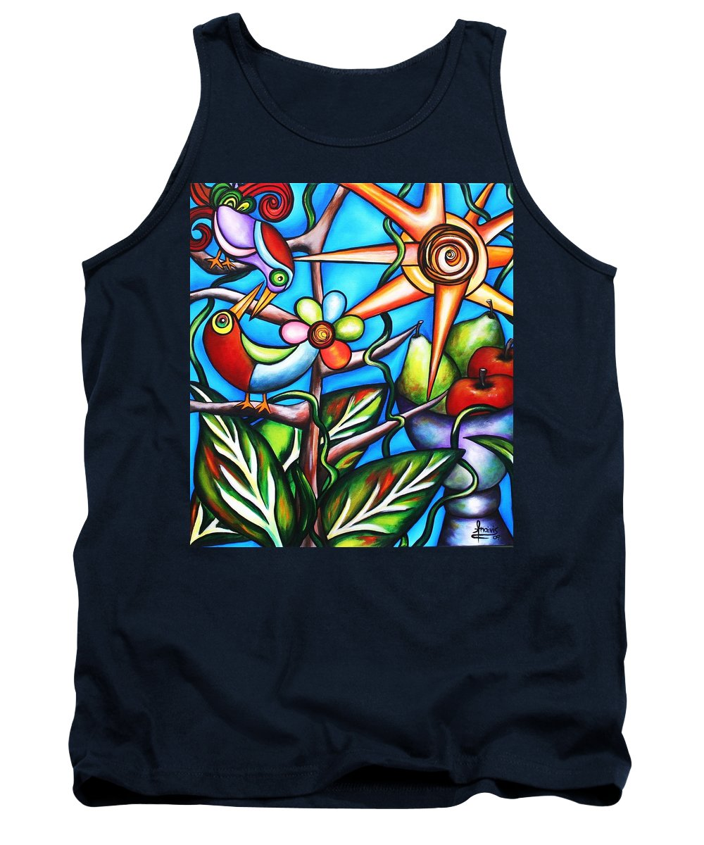 Birds Tank Top featuring the painting Let It Be by Annie Maxwell