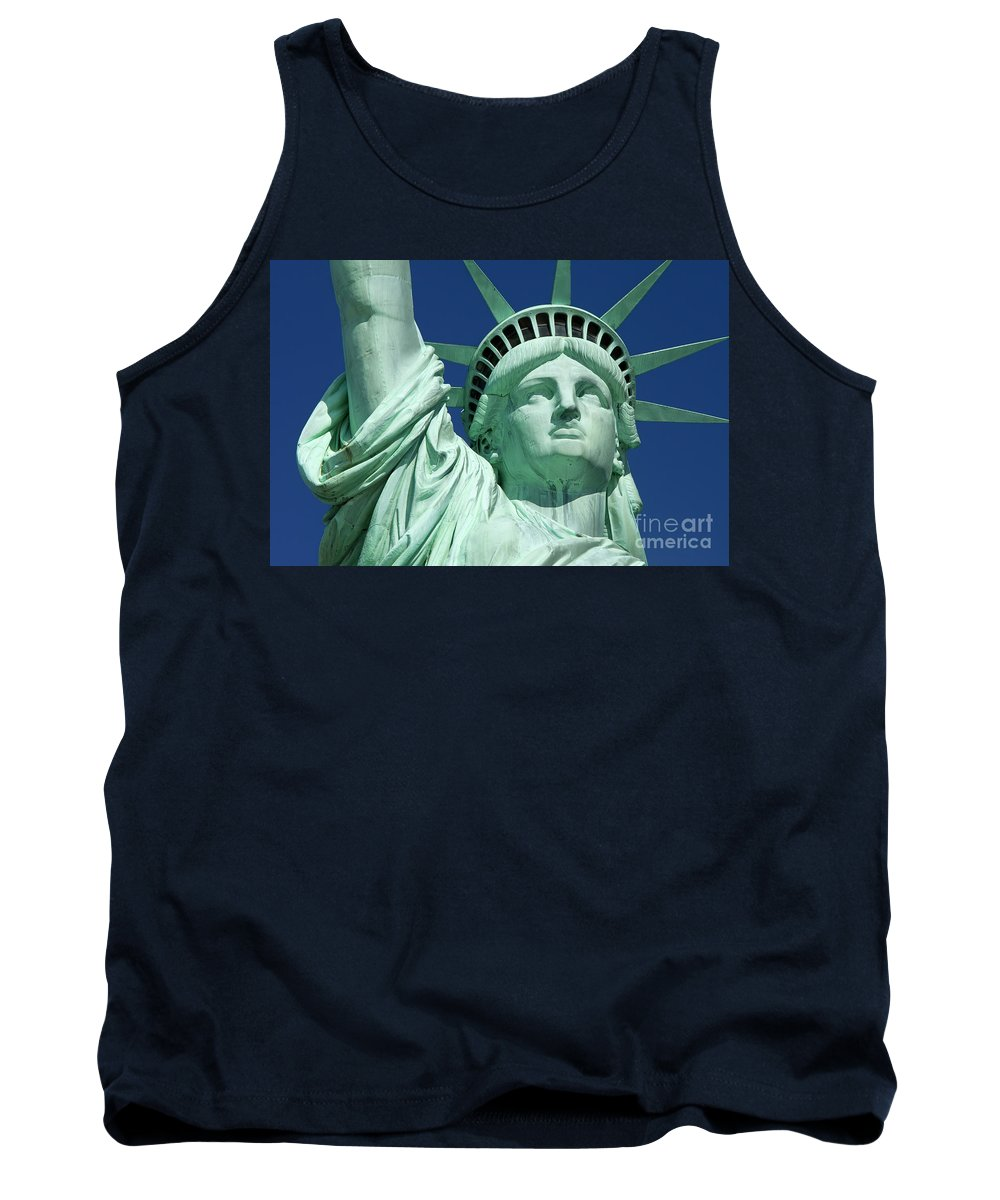 Statue Tank Top featuring the photograph Liberty by Brian Jannsen