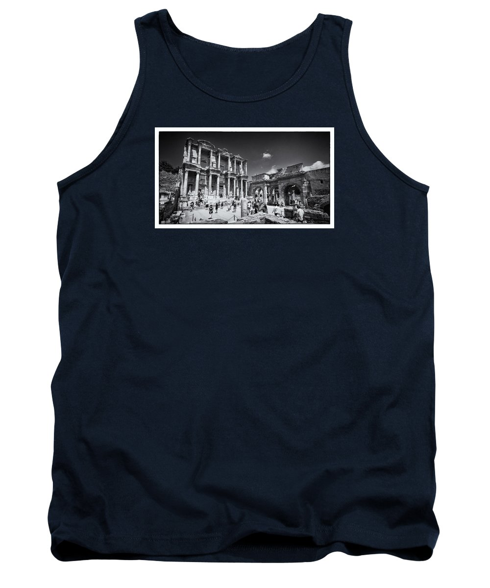 Celsus Tank Top featuring the photograph Library Of Celsus - Ephesus by Stephen Stookey