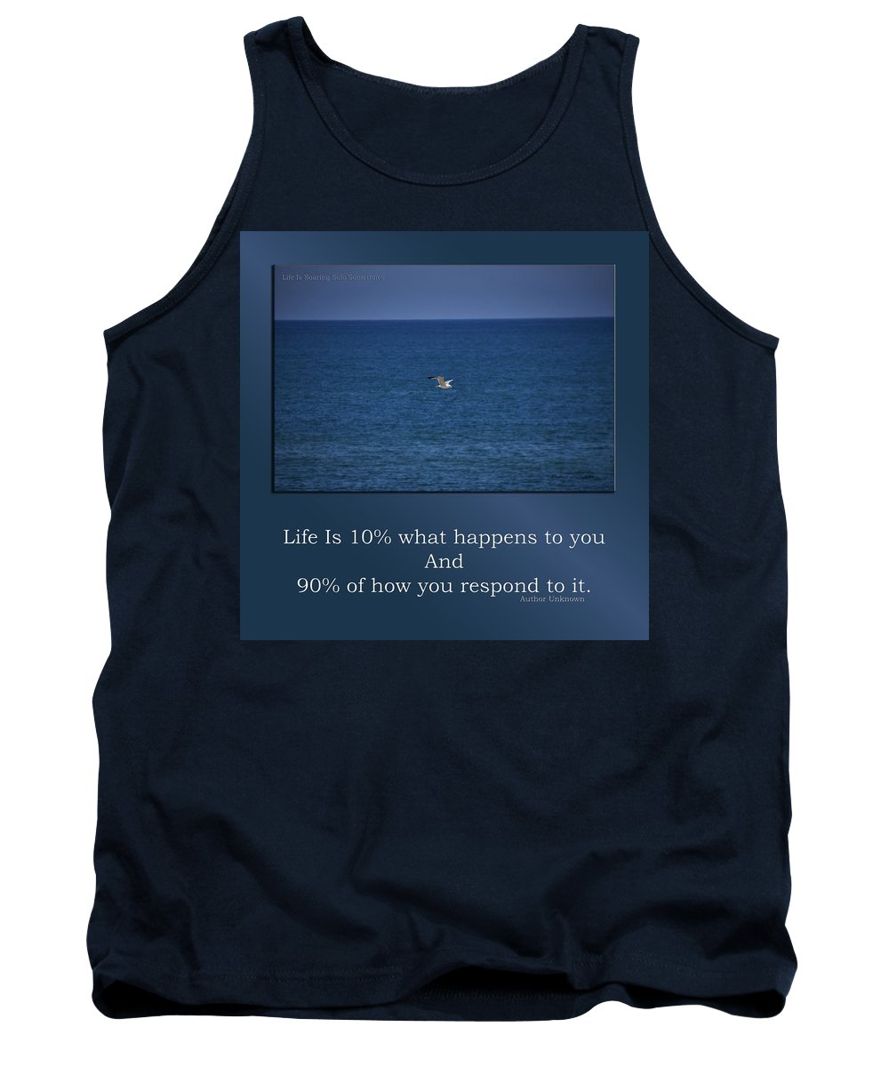 Water Tank Top featuring the mixed media Life Is Soaring Solo Sometimes by Thomas Woolworth