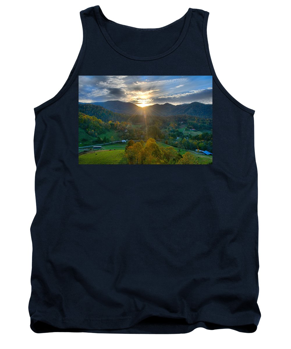 Hill Tank Top featuring the photograph Light In The Valley by Lynn Bauer