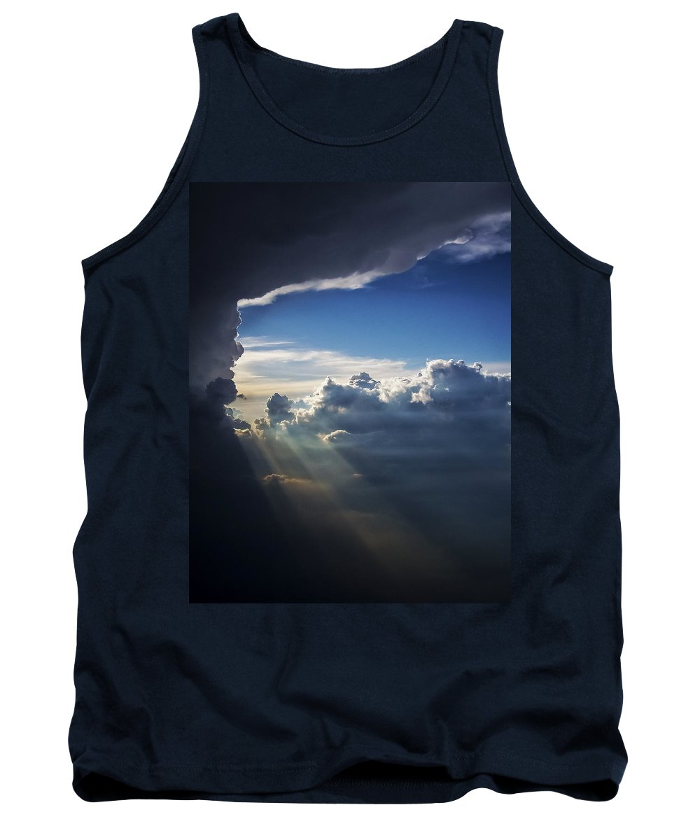 Light Shafts From Thunderstorm Tank Top featuring the photograph Light Shafts From Thunderstorm II by Greg Reed