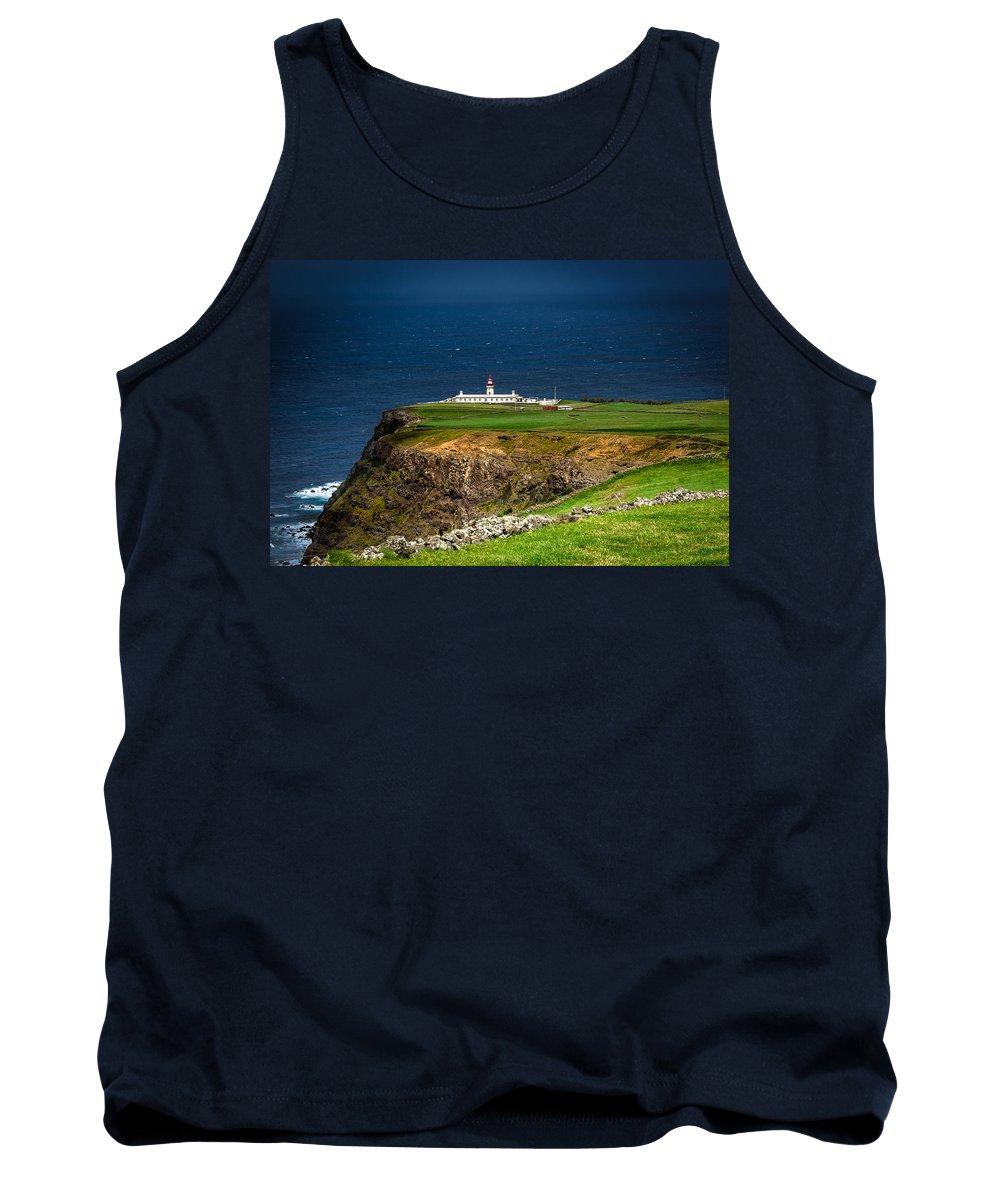 Farol Da Ponta Do Albernaz Tank Top featuring the photograph Lighthouse Ponta Do Albernaz by Edgar Laureano