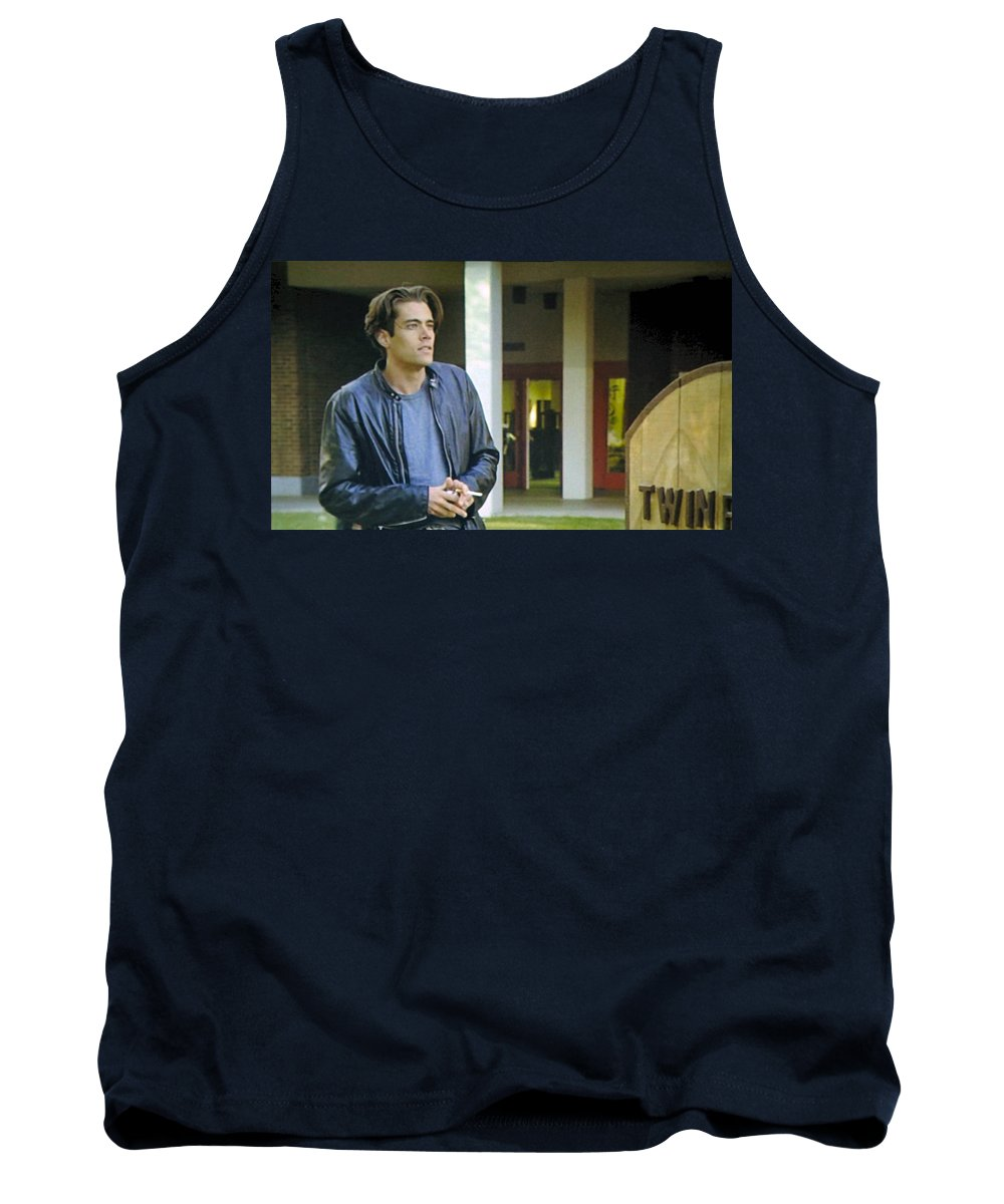 Laura Palmer Tank Top featuring the painting Like The Night When My Girl Went Away by Luis Ludzska