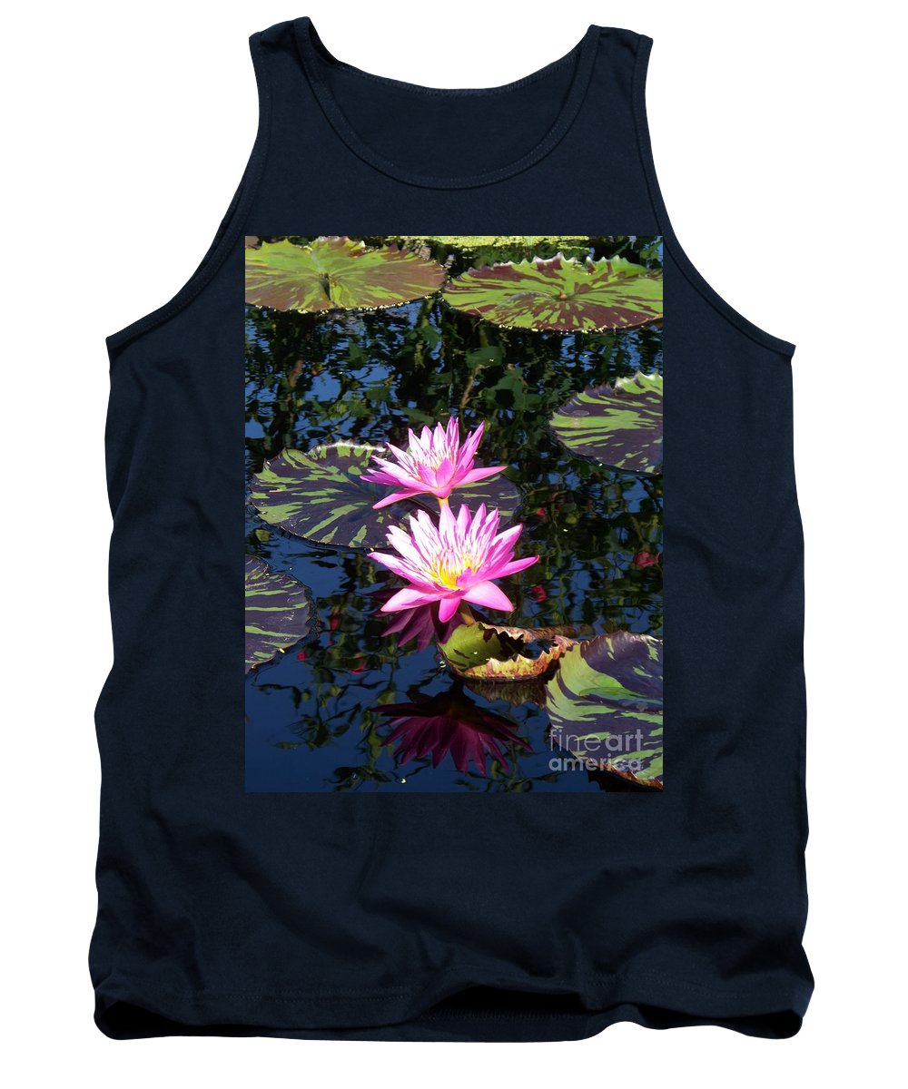Lily Tank Top featuring the painting Lily Monet by Eric Schiabor