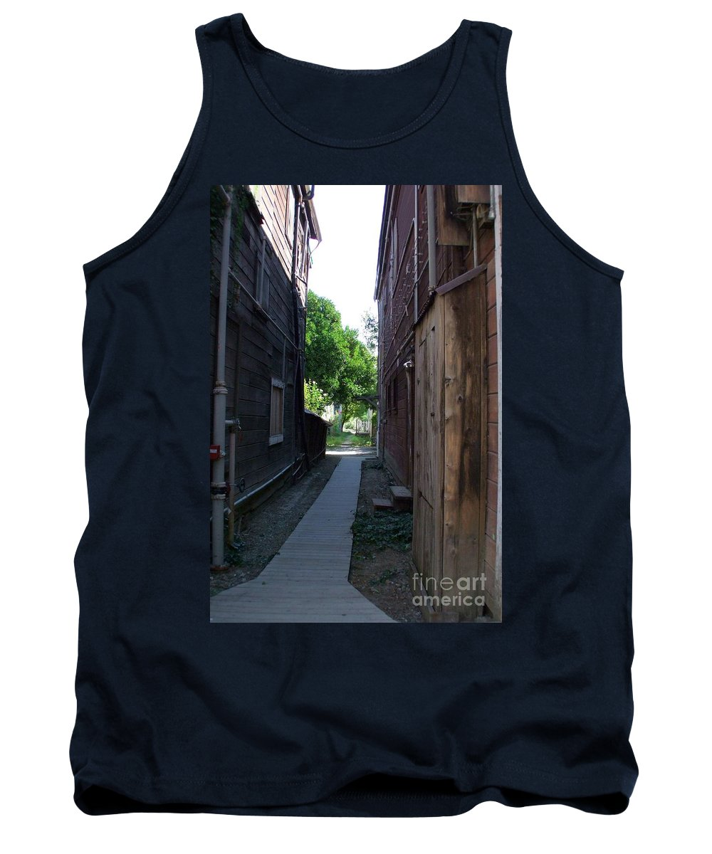 Alleyways Tank Top featuring the photograph Locke Chinatown Series - Alleyway With Trees - 4 by Mary Deal