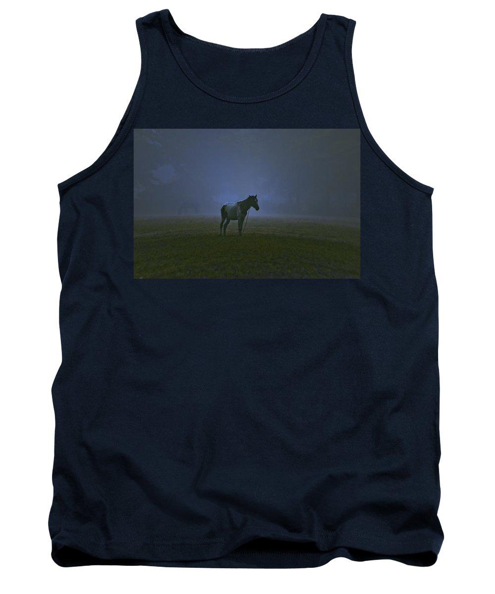 Horse Tank Top featuring the photograph Loner by Sagar Lahiri