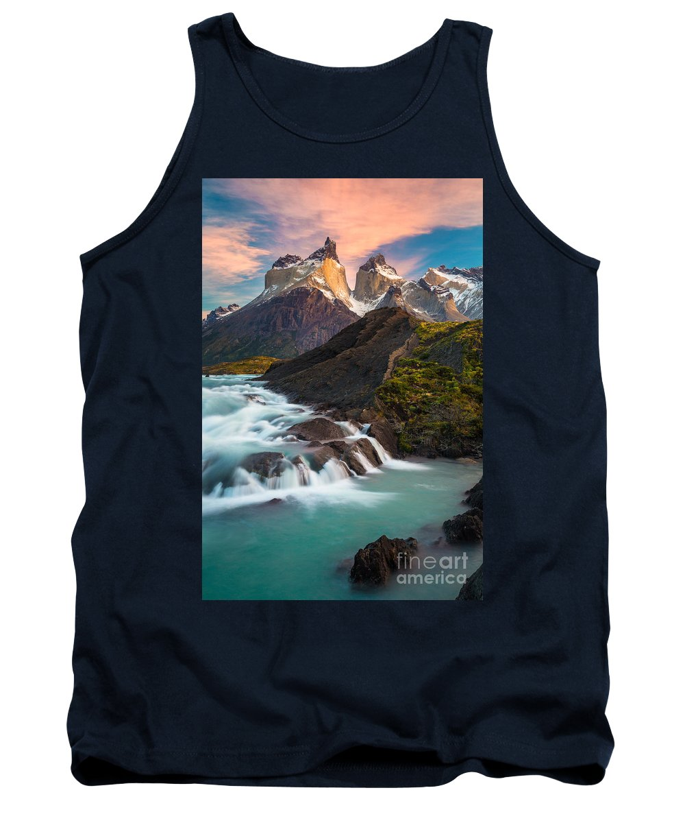 America Tank Top featuring the photograph Los Cuernos Rising by Inge Johnsson