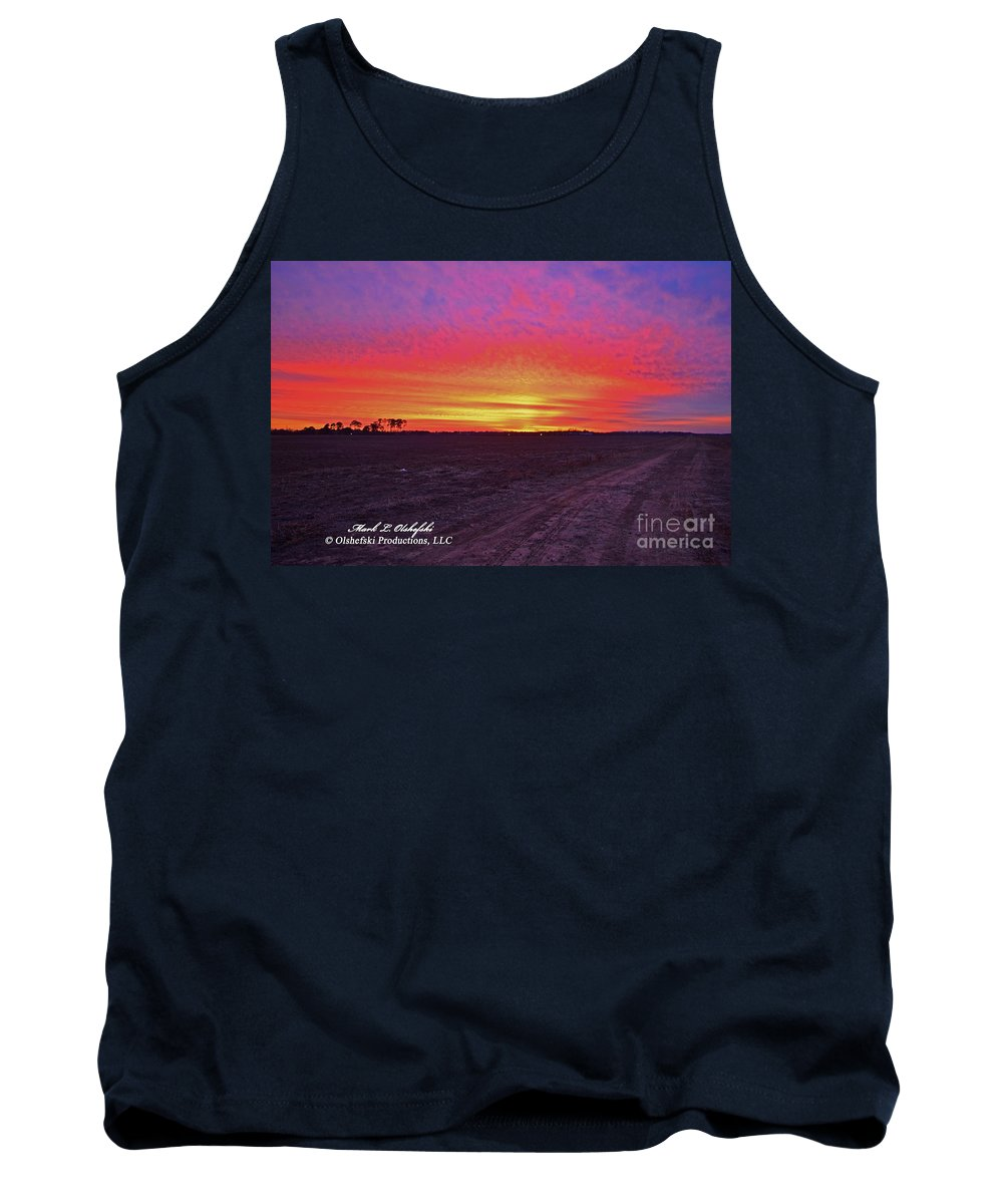 Sunset Tank Top featuring the photograph Loxley Al Sunset Dec 2013 I by Mark Olshefski