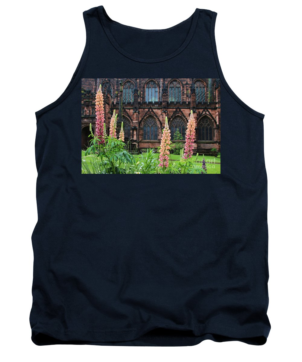 Lupines Tank Top featuring the photograph Lupines At Chester Cathedral 6805 by Jack Schultz