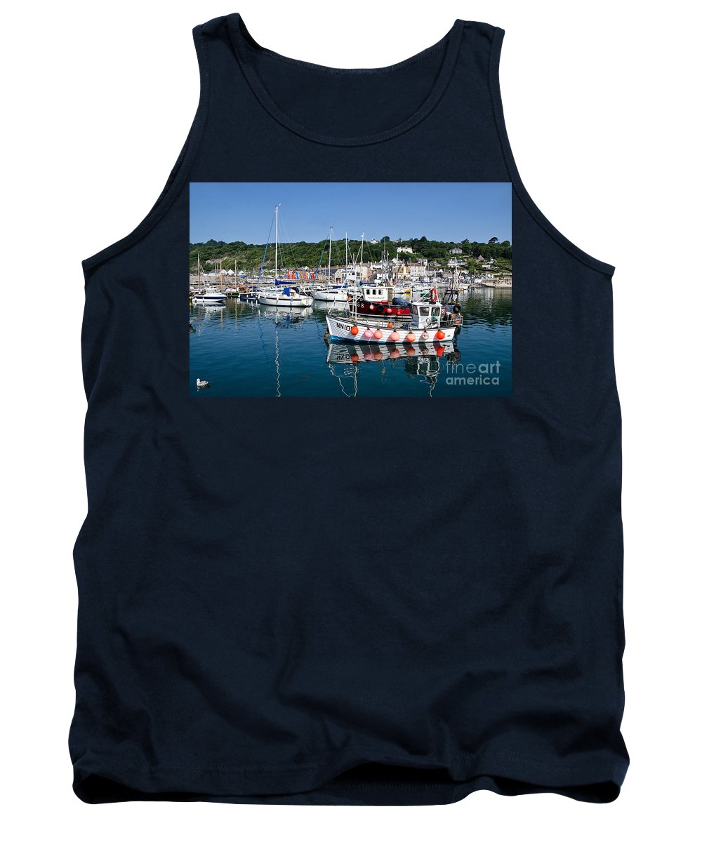 Lyme Regis Tank Top featuring the photograph Lyme Regis Harbour On A July Morning by Susie Peek