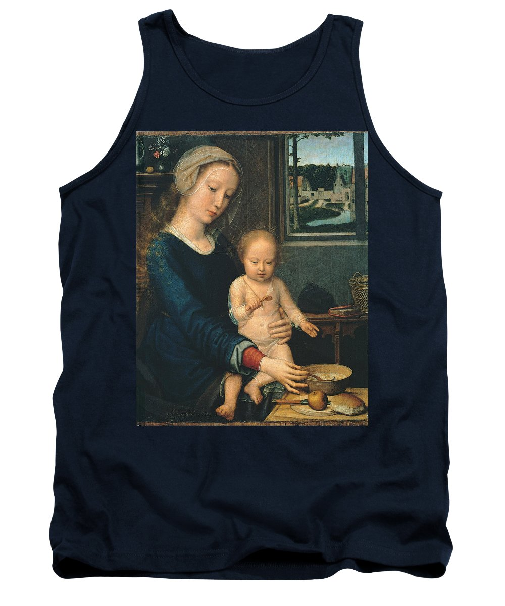 Gerard David Tank Top featuring the painting Madonna And Child With The Milk Soup by Gerard David