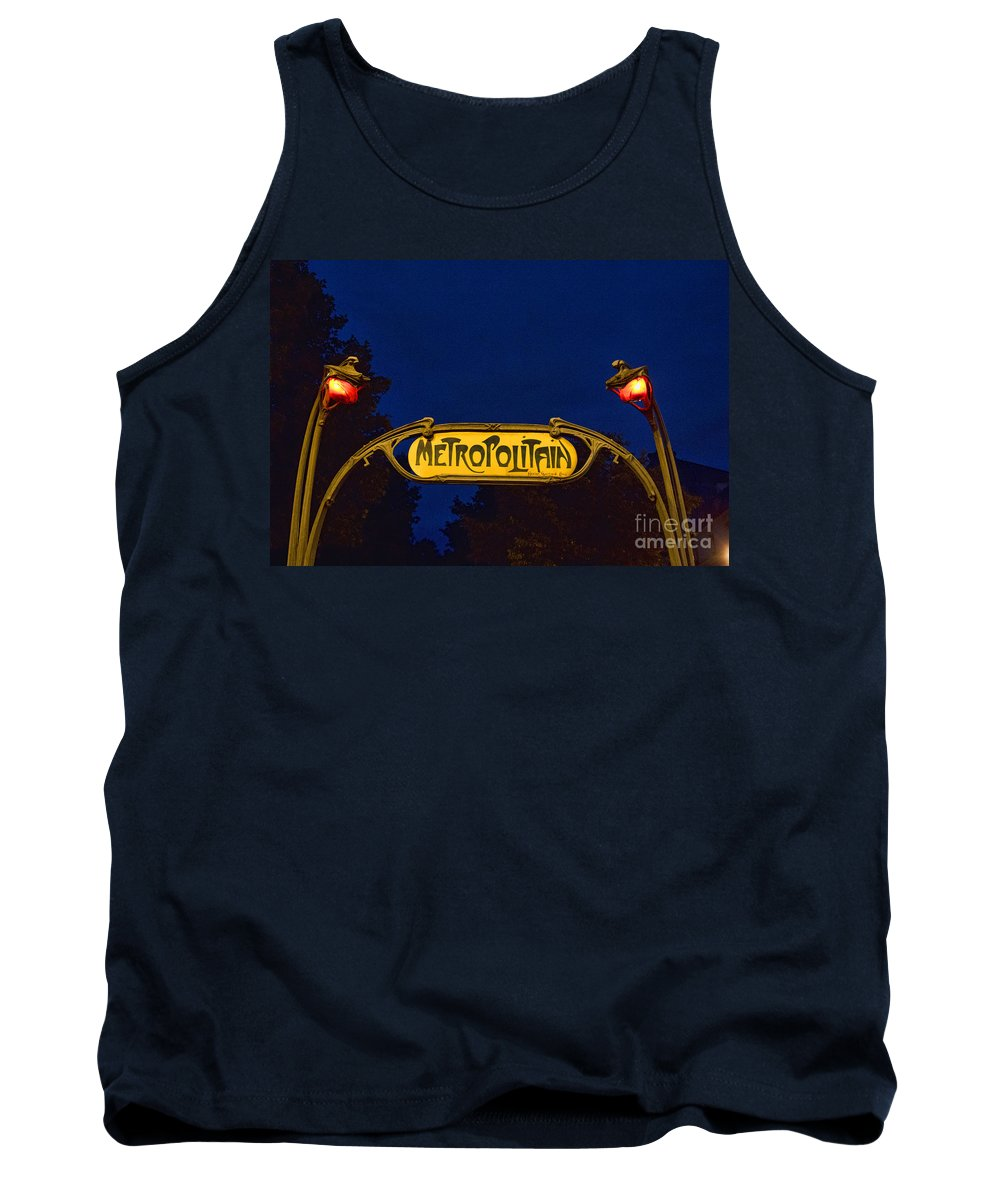 Europe Tank Top featuring the photograph Metropolitain #1 by Crystal Nederman