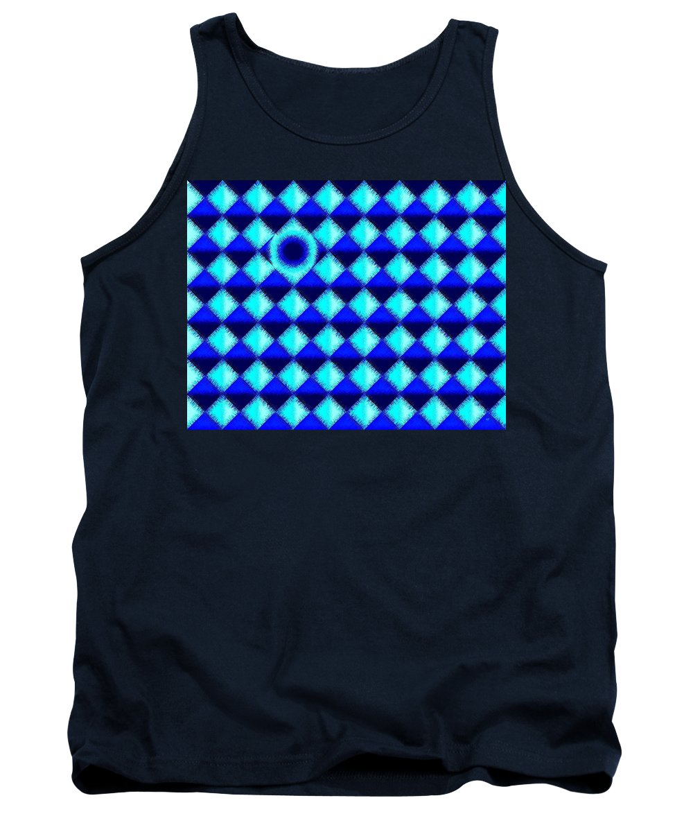 Micro Linear 45 Tank Top featuring the digital art Micro Linear 45 by Will Borden