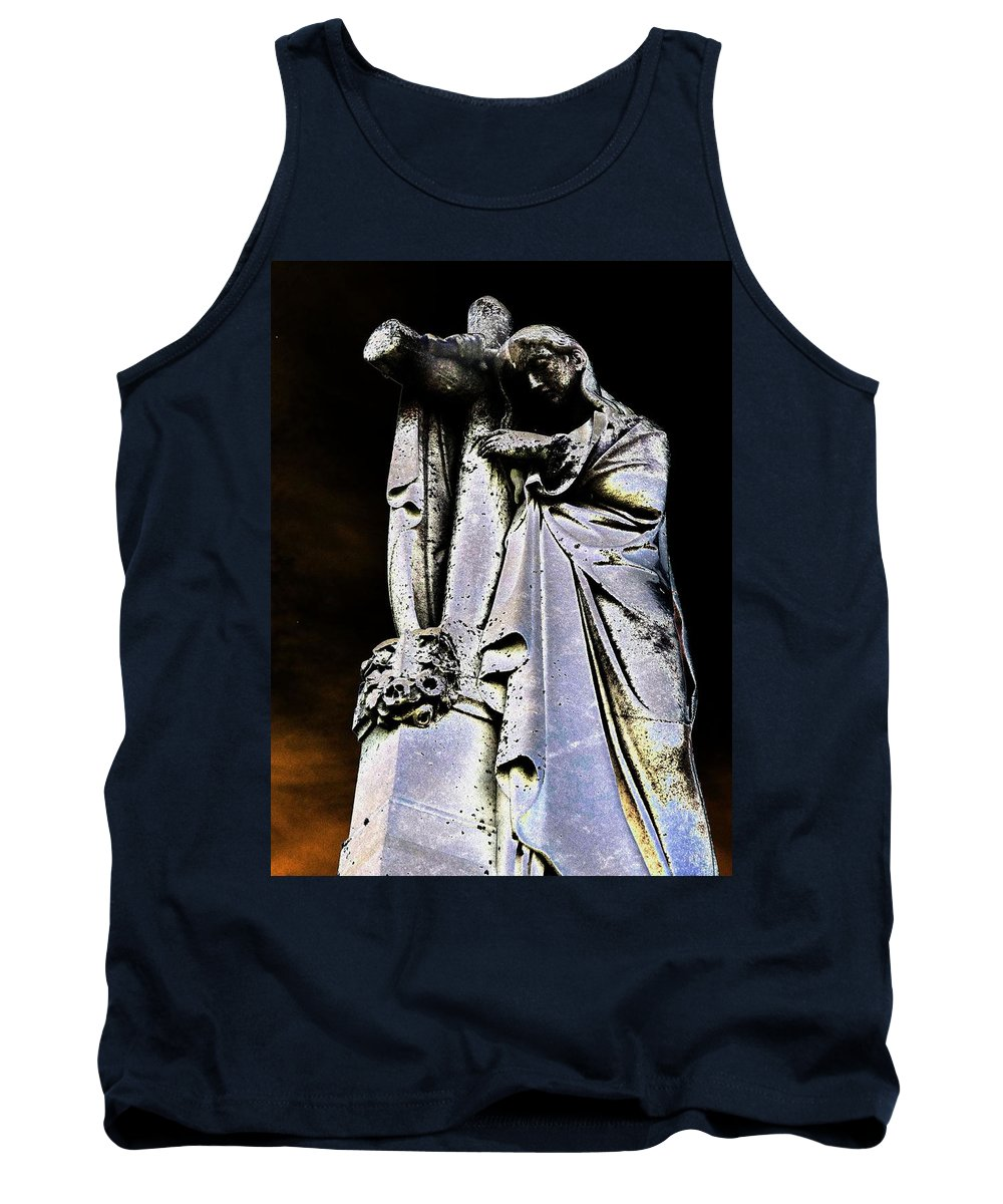 Cross Tank Top featuring the photograph Midnight Glory by Lisa Brandel
