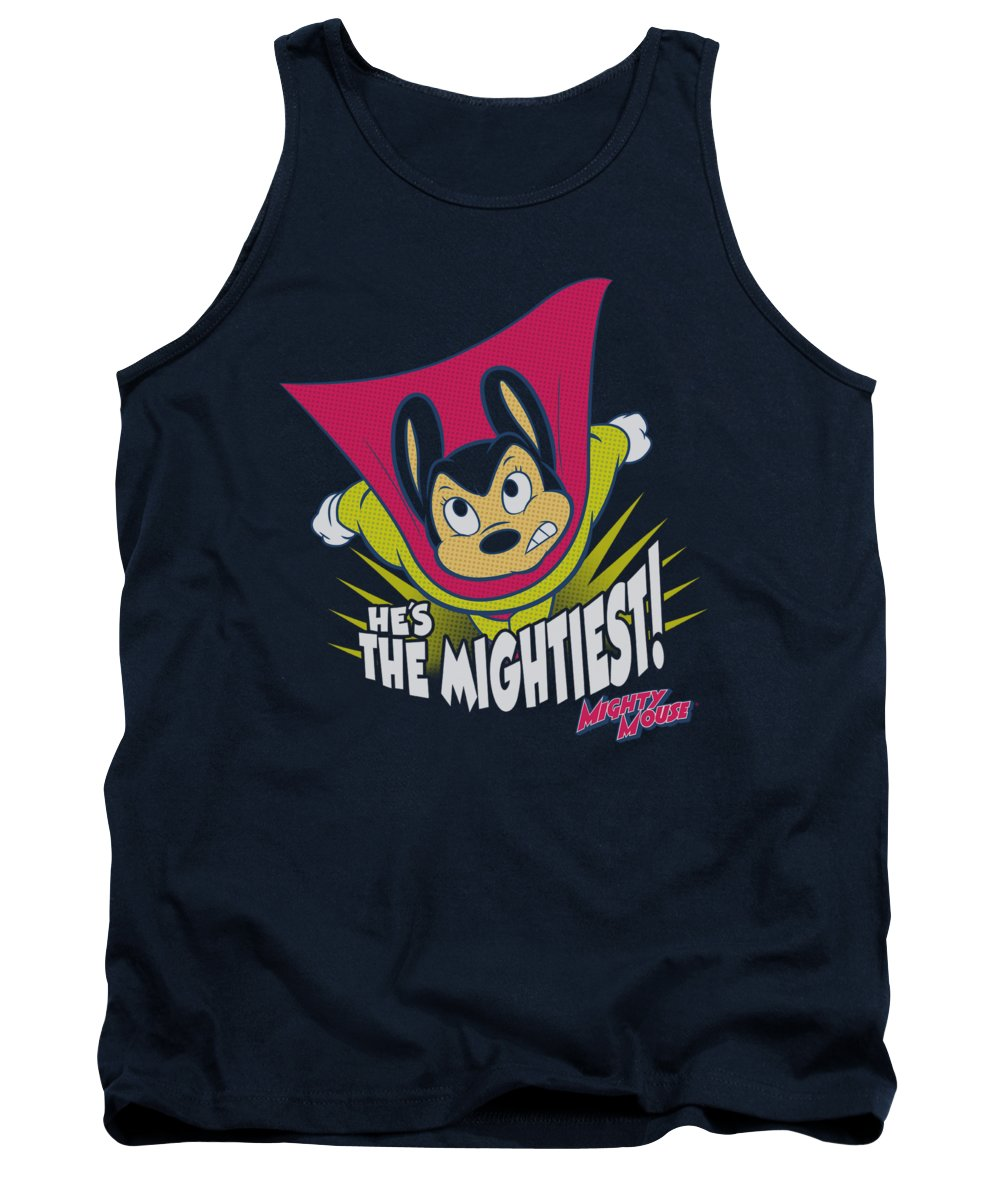 Mighty Mouse Tank Top featuring the digital art Mighty Mouse - The Mightiest by Brand A