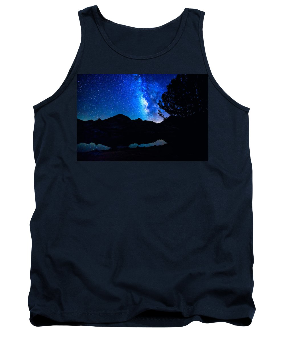 John Muir Trail Tank Top featuring the photograph Milky Way by Shauna Milton