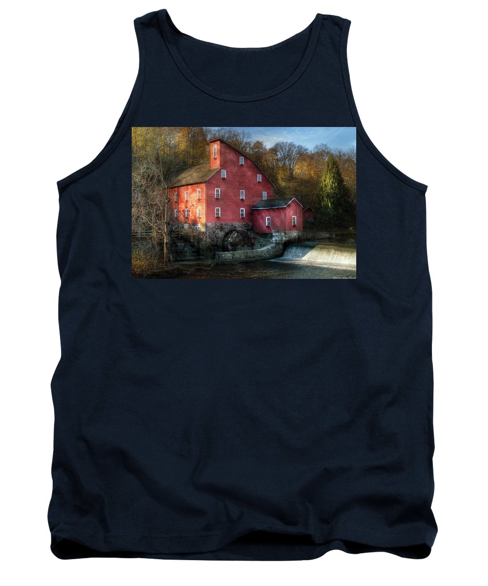 Savad Tank Top featuring the photograph Mill - Clinton Nj - The Old Mill by Mike Savad