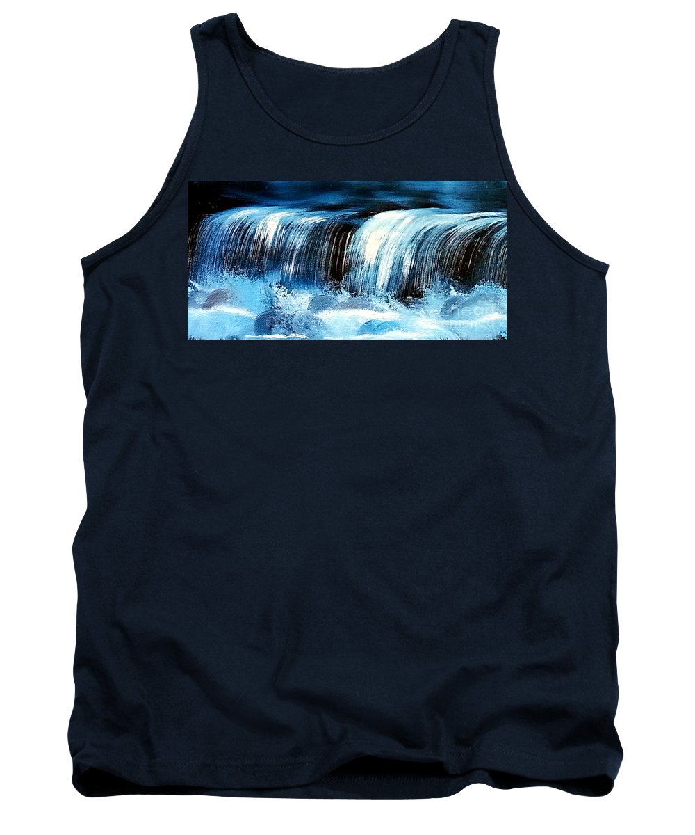 Oil Painting Tank Top featuring the painting Mist by Tami Dalton
