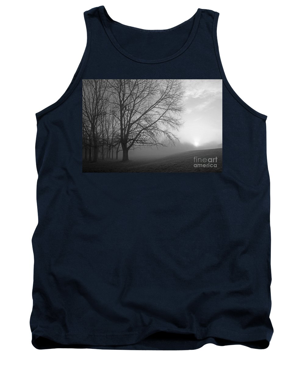 British Landscape Tank Top featuring the photograph Misty Morning by Julia Gavin