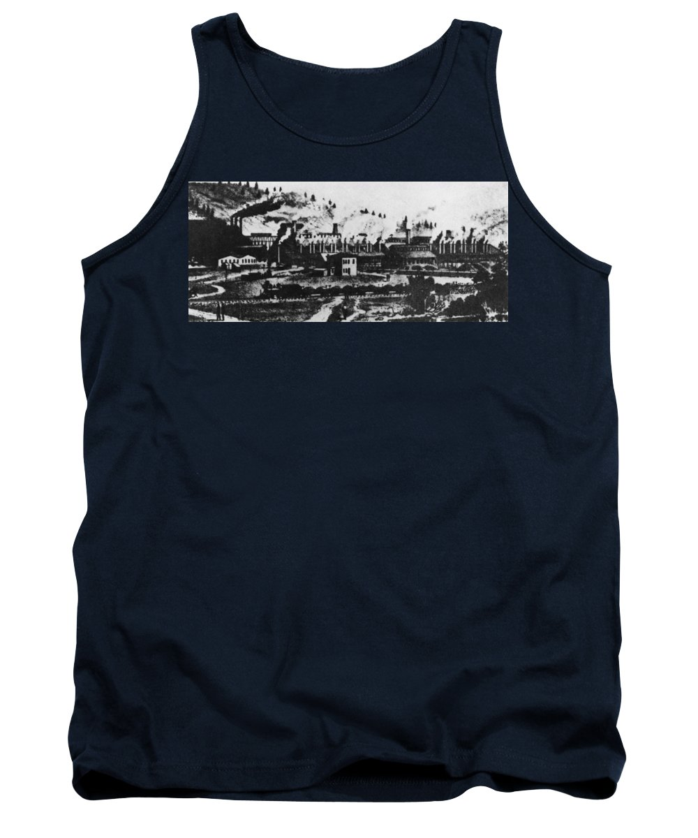 1880 Tank Top featuring the drawing Montana Smelting, 1880s by Granger
