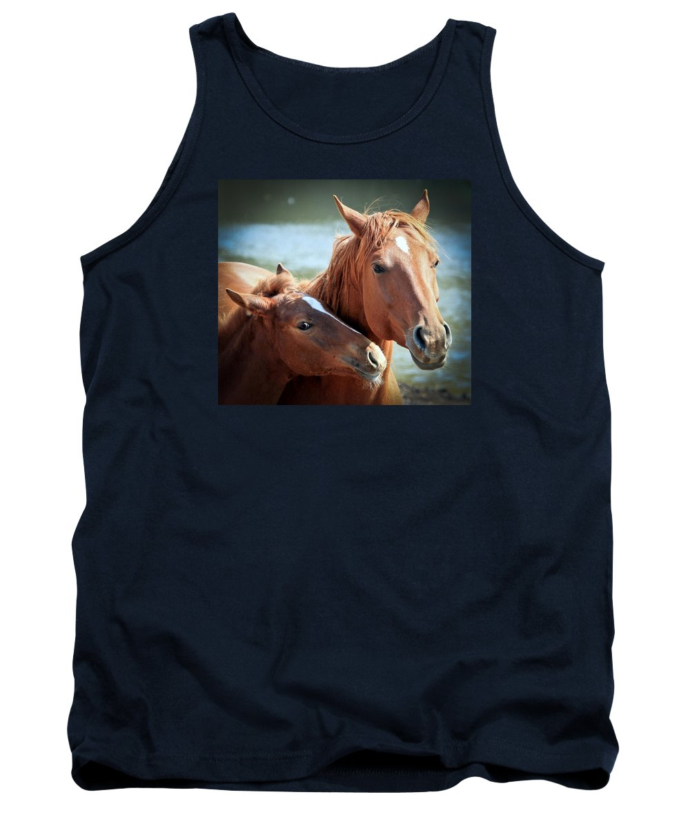 Horses Tank Top featuring the photograph Mother And Filly by Athena Mckinzie