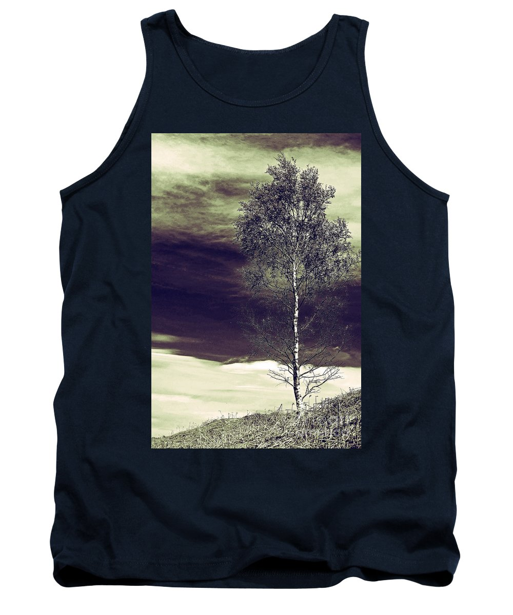 Landscape Tank Top featuring the photograph Mountain Tree by Callan Art