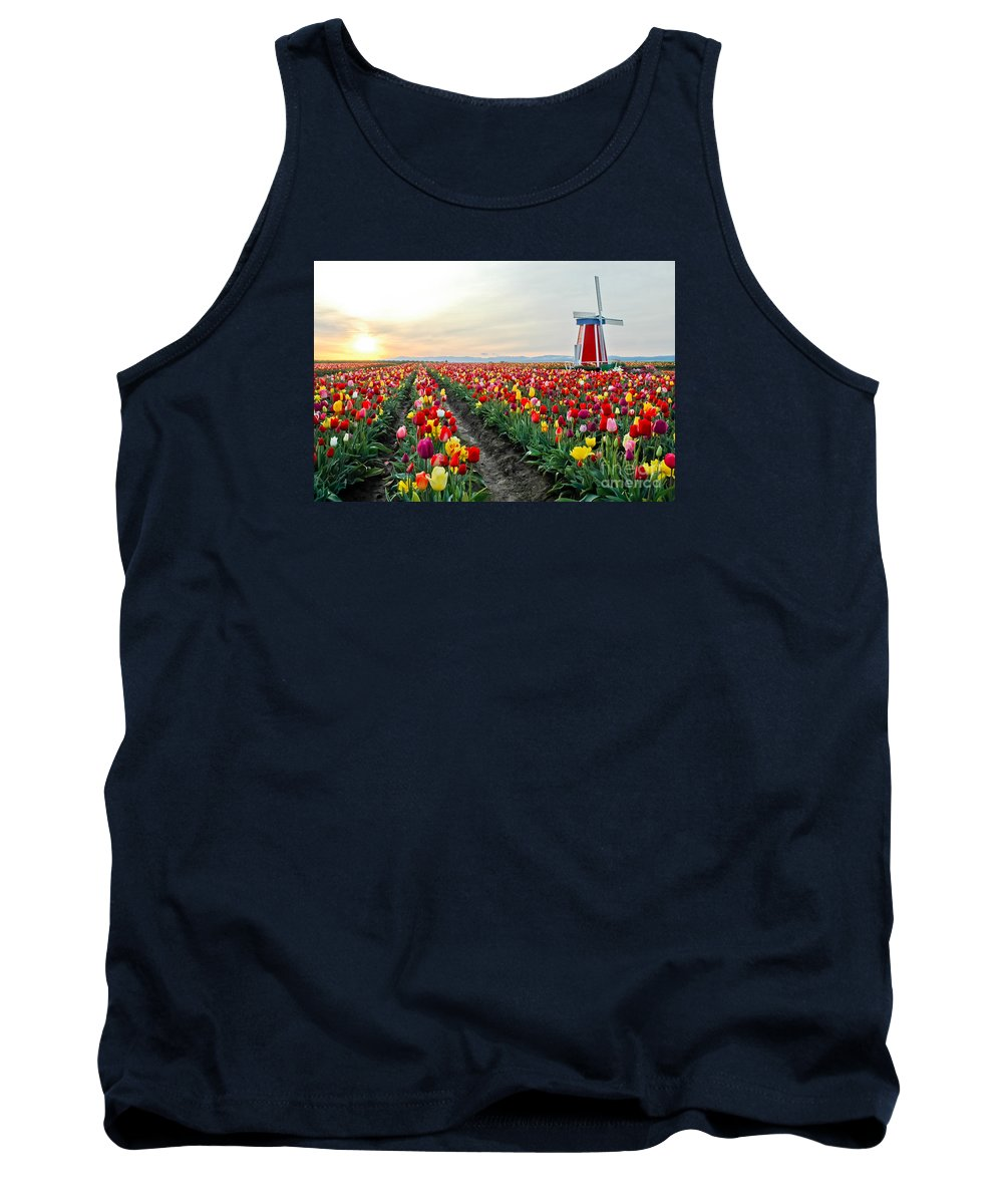 Tulips Tank Top featuring the photograph My Touch Of Holland 2 by Nick Boren