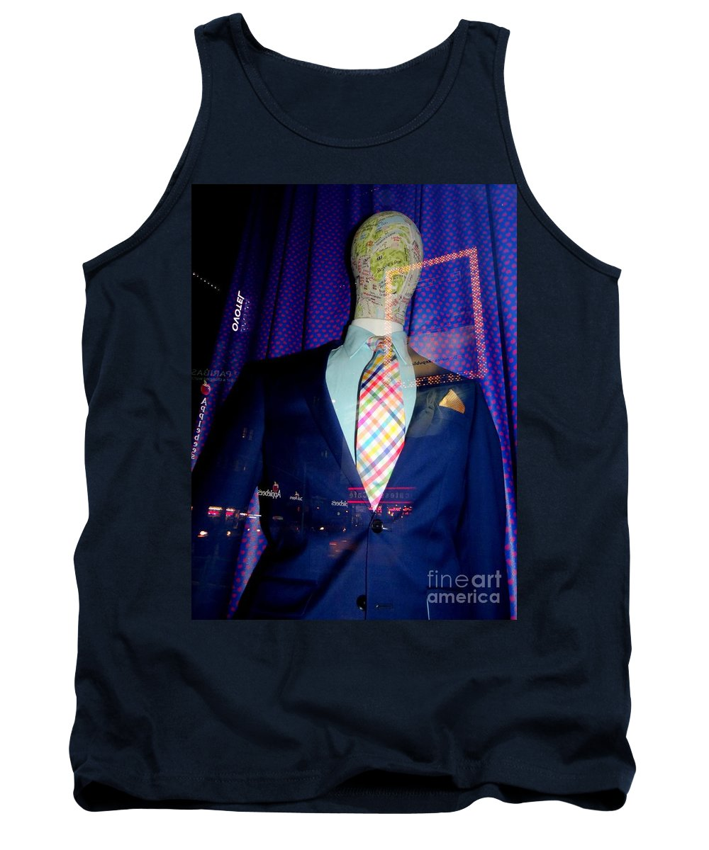Mannequins Tank Top featuring the photograph Neon Reflections by Ed Weidman