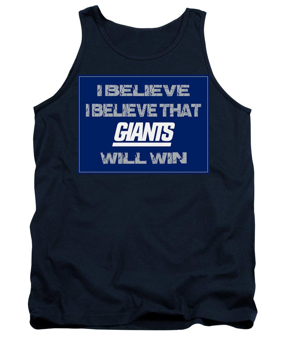 Giants Tank Top featuring the photograph New York Giants I Believe by Joe Hamilton