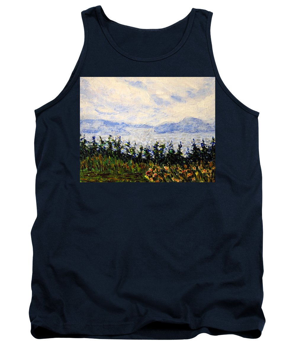 Newfoundland Tank Top featuring the painting Newfoundland Up The West Coast by Ian MacDonald