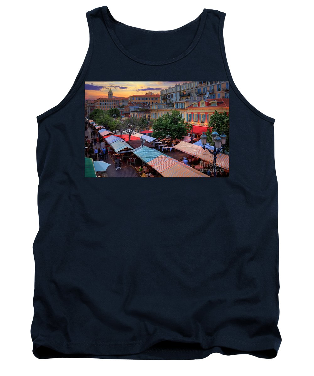 Cote D'azur Tank Top featuring the photograph Nice Flower Market by Inge Johnsson