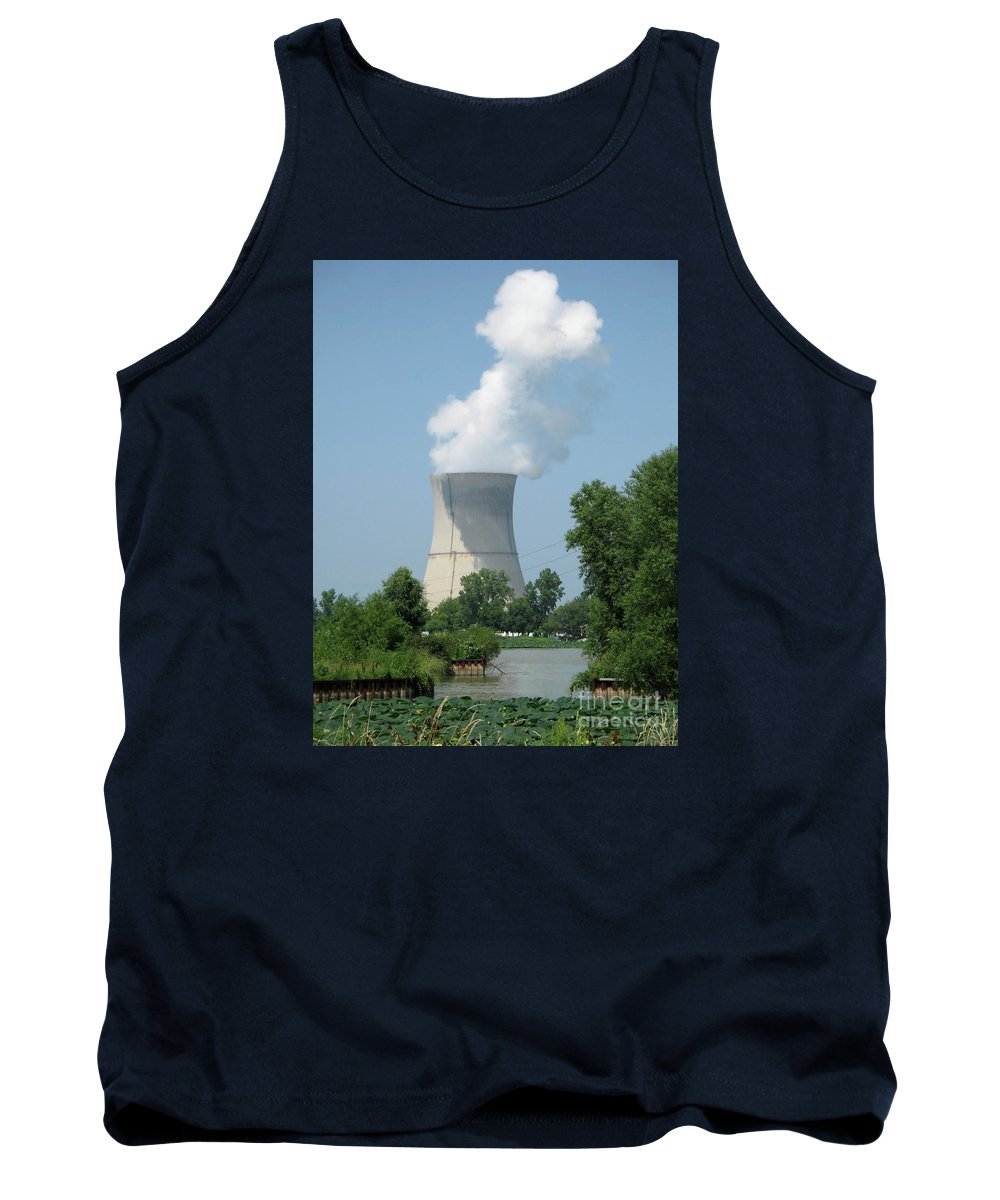 Nuclear Tank Top featuring the photograph Nuclear Energy And Environment by Ann Horn
