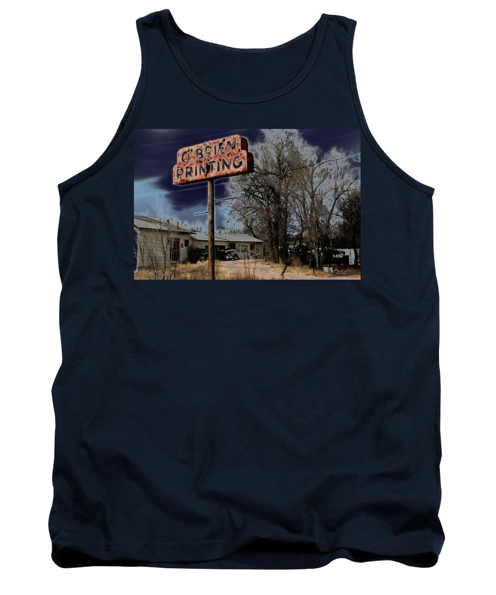 Industrial Tank Top featuring the photograph Obrien Printing by Ric Bascobert
